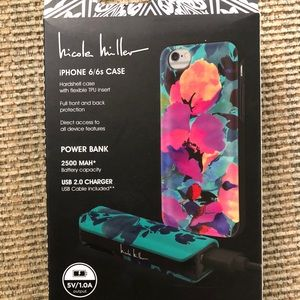 Nicole Miller iPhone 6 case & 2500maH power bank